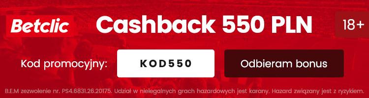 Betclic cashback kod promocyjny