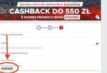 """Betclic bonus powitalny 550 PLN, """"KOD550"""" - kod promocyjny!"""