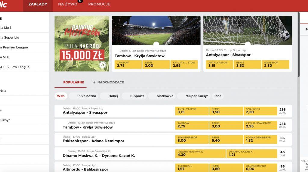 Polska strona bukmachera Betclic